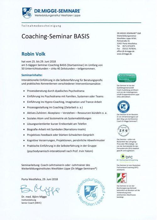 Seminar Basis  - 2018