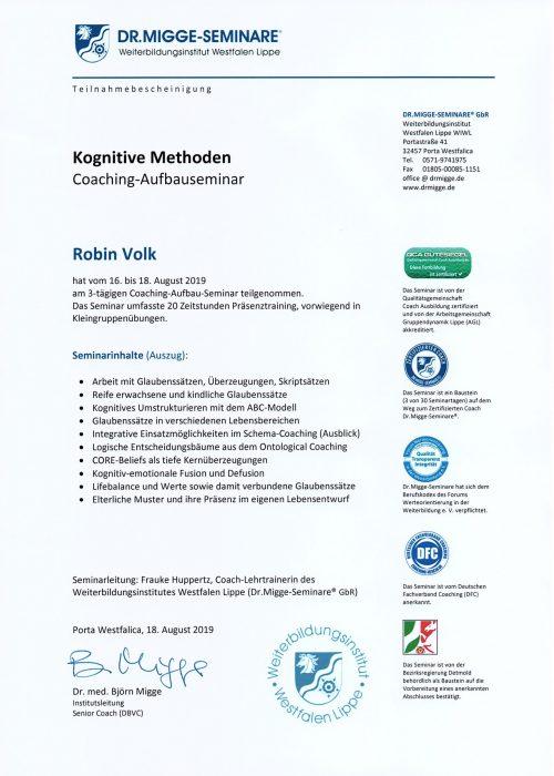 Seminar - Kognitive Methoden 2019