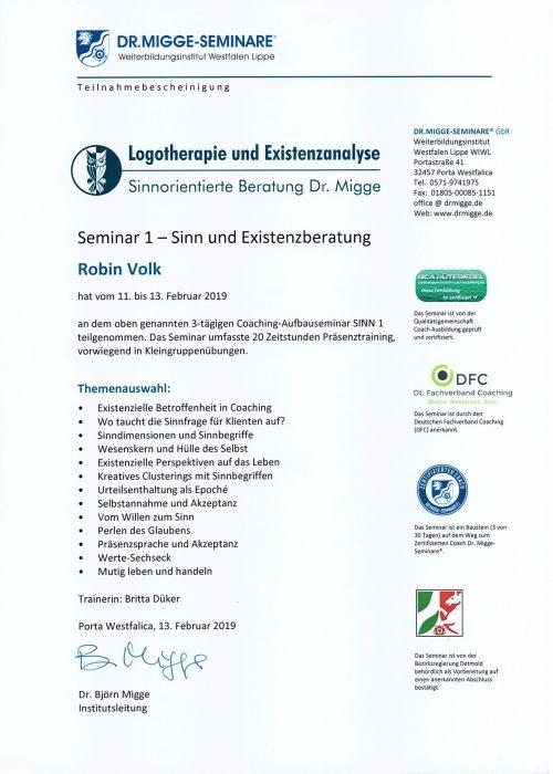 Seminar Sinn 1 - 2019
